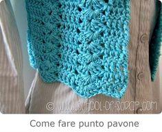 Punto Pavone o Peacock Stitch Crochet Crafts, Crochet Clothes, Crochet Stitches, Peacock, Blanket, How To Make, Hobby, Camilla, Video