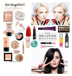 """""""Drugstore makeup"""" by sarahtboss ❤ liked on Polyvore featuring beauty"""