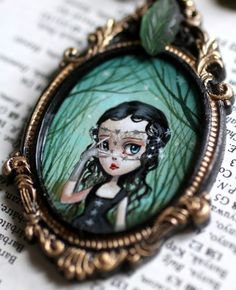 cameo necklace by Mab Graves
