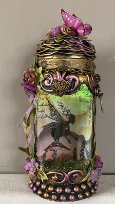 Excited to share this item from my #etsy shop: Handmade bespoke 9 inch beautiful fairy jar . Fairy Jars, Power Colors, Color Changing Lights, T Lights, Beautiful Fairies, Color Change, Little Ones, Bespoke, Vines