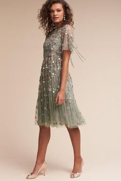 Sage Bobbi Dress | BHLDN - perfect boho bridesmaid dress