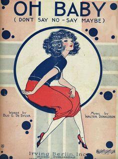 Pretty Girl Ziegfeld follies 1919.sheet music Irving Berlin 5 x 7 reproductions