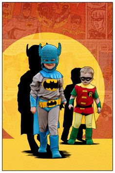 Picture of Classic Batman and Robin Kids' DIY Costumes