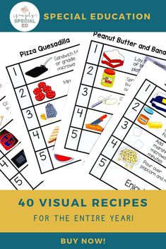 Looking for toddler and school lunch ideas? Find visual recipe cards for breakfast, lunch and dinner for the entire year. Kids Cooking Recipes, Cooking With Kids, Cooking In The Classroom, Peanut Butter Squares, Snow Ice Cream, No Bake Oreo Cheesecake, Teaching Life Skills, Yogurt Popsicles, Candy Popcorn