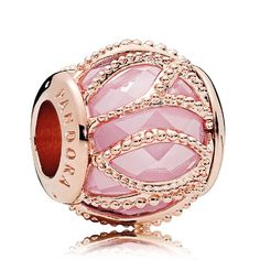 PANDORA Rose Gold Pink CZ Intertwining Radiance Charm