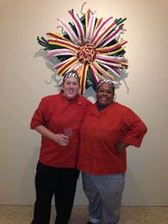Executive Chef Anne and Sous Chef Trinity
