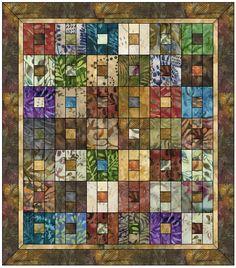 Boxed Squares EQ quilt design using batiks.