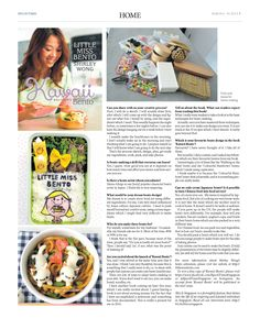 Little Miss Bento – Shirley Wong (Pg 2/2)  --- (Issue 505, March 6 – 19, 2015)