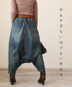 【楽天市場】【再入荷♪12月5日19時より】「mori」デニムのサルエルの楽しみかた。パンツ:cawaii