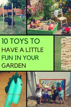 Here are some clever garden toy ideas that can encourage your kids to get more time outside while also having fun and learning. Learning Tools, Kids Learning, Sponge Water Bombs, Garden Party Games, Foster Kids, Kids Fitness, Very Clever, Garden Toys, Exercise For Kids
