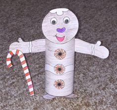 Gingerbread TP Roll Craft