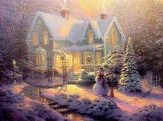 Thomas Kinkade Christmas Christmas Scenes, Christmas Pictures, Christmas Art, Victorian Christmas, Country Christmas, Victorian Angels, Christmas Houses, Cottage Christmas, Christmas Fireplace