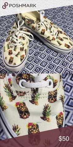 Exclusive vans Exclusive vans, mens size 6, womans 8, pineapple skull pattern, never worn outside, no negotiation , firm price Vans Shoes Sneakers