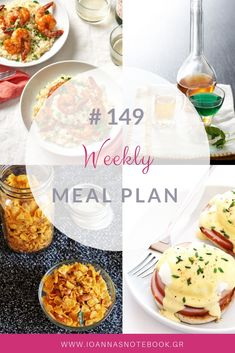 Brand new Weekly Meal Plan loaded with delicious recipes to help you plan out your week! Delicious Recipes, Yummy Food, Recipe Organization, Weekly Menu, Meal Planning, Organizing, Greek, Easy Meals, Notebook