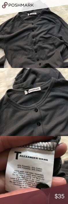 T BY Alexander Wang Waffle Knit Onesie Size Small In excellent preworn condition size small! It fits around the knee length. Shown on model. Sorry no trades. T by Alexander Wang Intimates & Sleepwear
