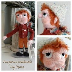 """Guido de snowboarder""  Pattern by Ginia Mees"