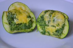 Palavras que enchem a barriga: Courgette redonda recheada com esparregado de grelos e queijo cheddar