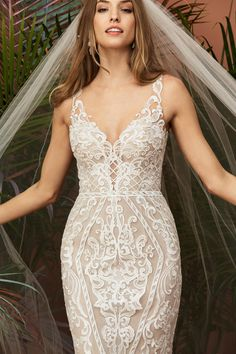 Wedding dresses Wtoo von Watters Wedding Dress Collection Herbst 2018 - What is the full des Wedding Dresses Houston, Bridal Wedding Dresses, Wedding Attire, Bridal Collection, Dress Collection, Wtoo Bridal, Wedding Dress Necklines, Beautiful, Fall 2018