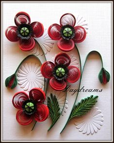 I have been wishing to quill poppies for a long time. When I started with this card I first tried out Inna's  tutorial  . I am ...
