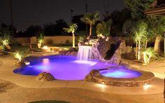Love the pool lights