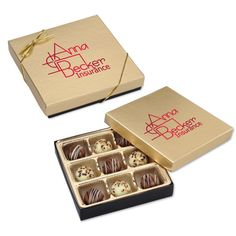 Personalized chocolate gifts are always in good taste!