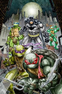 Batman/TMNT, art by Freddie E. Williams II