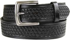 "Belts.com Basketweave Men's Work Uniform Casual Belt 1 1/2"" Wide-Black-38-Black Belts.com. $19.95"
