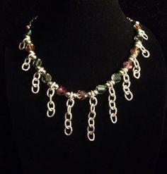 Chunky crystal necklace  by azCreationsByAlyssa on Etsy