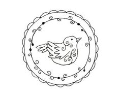Bird Embroidery Pattern Set 3 Bird by teenytinyhappythings on Etsy