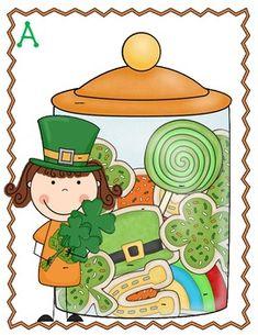 I Spy St. Patrick's Day Words using magnifying glasses!