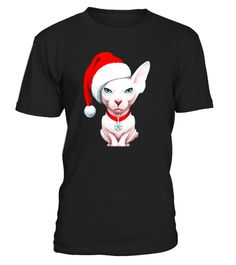 """# White Sphynx Cat in Santa Claus Hat Christmas T-Shirt .  Special Offer, not available in shops      Comes in a variety of styles and colours      Buy yours now before it is too late!      Secured payment via Visa / Mastercard / Amex / PayPal      How to place an order            Choose the model from the drop-down menu      Click on """"Buy it now""""      Choose the size and the quantity      Add your delivery address and bank details      And that's it!      Tags: Merry Christmas and Happy New…"""
