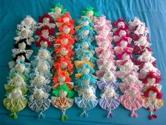 Happy little yo yo girls. - Craft ~ Your ~ Home Doll Crafts, Sewing Crafts, Sewing Projects, Craft Projects, Craft Ideas, Crafts To Make, Fun Crafts, Crafts For Kids, Kids Christmas