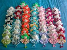 jardim de cores: Bonecas em fuxico