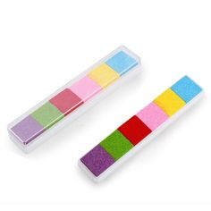 FLST Light 6 Color Ink Pad Inkpad Rubber Stamp Finger Print Craft Non-Toxic Baby Safe