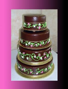 ganache covered tiramisu wedding cake