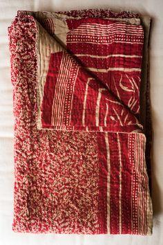 Hand-Stitched Kantha Gudri Throw Blanket 010
