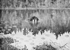 The Water Sprite (Theodor Kittelsen) Theodore Kittelsen, Spirit Magic, Fine Art Amerika, Candy Art, Art Database, Fantasy, Lofoten, Mythical Creatures, Oeuvre D'art