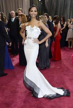 Zoe Saldana  dress by Alexis Mabille.