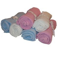 2 New Cellular Baby Blankets 100% Cotton 70 x 90 cm Cot Moses Basket Crib