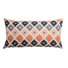 Coral Flowers Throw Pillows | Great site for decorative pillows and bedding | www.craneandcanopy.com