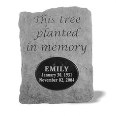 This tree planted in memory of ... #neverforget #alwaysremember
