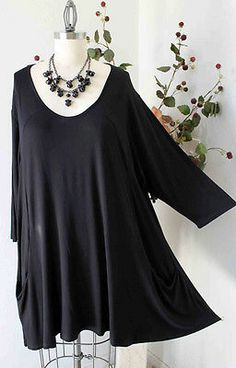 db243f8219a New Versatile Plus size Tunic Lagenlook for everyday fun and comfort IN  BLACK Plus Size Leggings