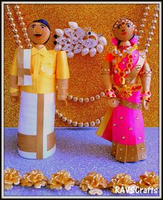 RAVSCrafts: SOUTH INDIAN BRIDE AND GROOM