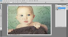 adding textures to photo backgrounds using photoshop ... tutorial!!