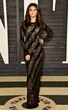 Selena Gomez from 2015 Oscars After-Party Looks (Plus Viewing Parties!)  In Louis Vuitton.