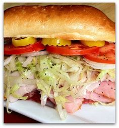 """Dishing With Leslie: Classic Sub Sandwich - a couple of deli """"secrets"""" for making a great deli style sandwich"""
