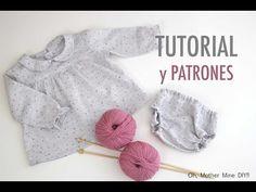 DIY Costura: Conjunto de niña blusa y braguita (patrones gratis) - YouTube