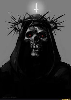 Skeleton Christus - the - Ange Demon, Demon Art, Arte Horror, Horror Art, Dark Fantasy Art, Dark Art, Satanic Art, Evil Art, Arte Obscura