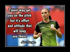 """Soccer Poster Alex Morgan Photo Quote Wall Art 8x11""""-11x14"""" Talent May Get U On the Pitch - Effort & Attitude Keep U There -Free USA Ship by ArleyArt on Etsy"""