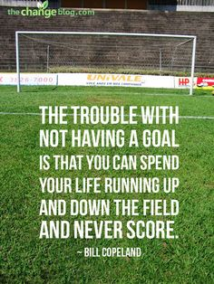 Before Goal Setting - Ask students what soccer would llook like without the goals in place. --- A lot of running in circles...YEP, that is what school is without a goal. RO